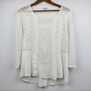6 HR CCO SALE!* Lucky Brand Dot Embroidered Tunic